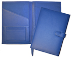 Inside and Outside of Blue Leather Agenda