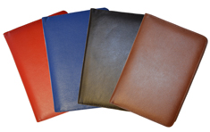 Red, Blue, Black & Brisith Tan Leather Bound Planner Calendars